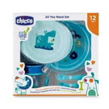 Chicco Eating Set All You Need Set 12M+ Blue